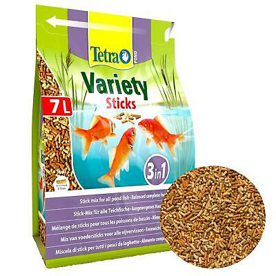 1020g 7 ltr litre TETRA POND VARIETY STICKS FLOATING KOI FISH FOOD VARIED DIET