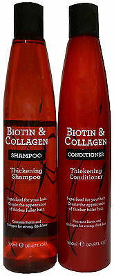 Biotin & Collagen Thickening Superfood Shampoo and Conditioner Set 300ml