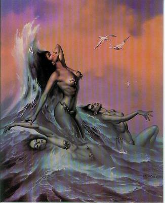 Boris Vallejo Postercard: Water Nymphs (USA, 1992)