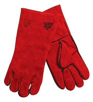 Silverline Leather Stove/Woodburner Gloves Welders/Welding Gauntlets Protective