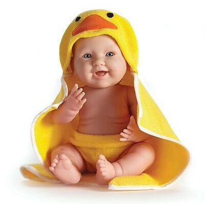 "New in Box Berenguer 17 "" La Newborn Moments 18005 Yellow Duck Hooded Towel Doll"