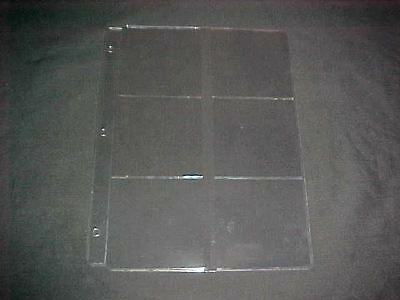 20 6 slot Plastic Pages for 3 inch patches