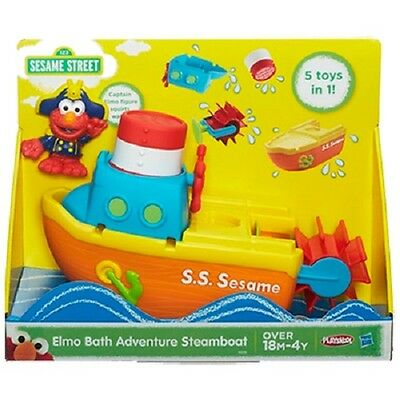 New Hasbro Playskool Sesame Street Elmo Bath Adventure Steamboat - A6000 Boat
