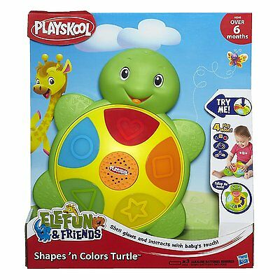 New Hasbro Playskool Elefun & Friends Shapes 'n Colors Colours Turtle Toy A6046