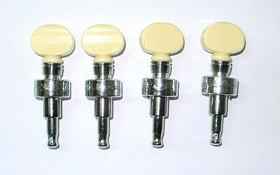 4 string banjo tuning pegs, Chrome plated, Acrylic Ivory color button, 328CX-BI
