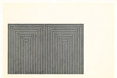 """Frank Stella vintage 1967 """"Marriage of Reason and Squalor"""""""
