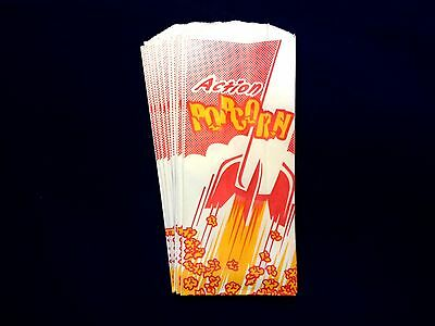 """(100) - 1 oz. Popcorn Bags 8"""" Most Common Size  FREE QUICK SHIPPING"""