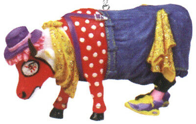 Cow Parade 2002 BULL FIGHT'N BOSSIE ORNAMENT #7581 Clown, New & Hard to Find!