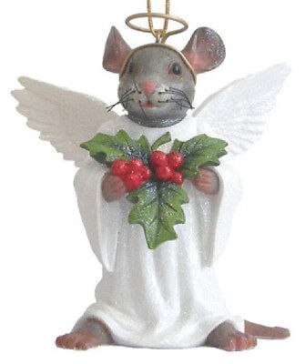 December Diamonds ANGEL MOUSE ORNAMENT Retired!