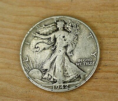 1942 Walking Liberty Silver Half Dollar  Item 918