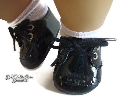 Boy Twin Black Patent Dress Shoes for BITTY BABY Doll Clothes