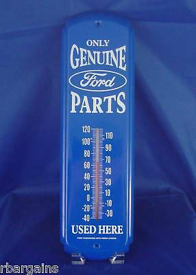 Metal Tin Thermometer ONLY GENUINE FORD MOTOR  PARTS USED HERE Garage Decor