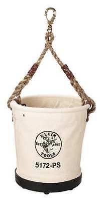 KLEIN TOOLS 5172PS Bucket, #4 Canvas, 15 Inside Pkts