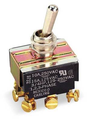Toggle Switch,3PDT,10A @ 250V,Screw CARLING TECHNOLOGIES HM254-73