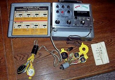 VINTAGE SENCORE CRT143 CATHODE RAY TUBE TESTER FROM TECHNICIANS ESTATE
