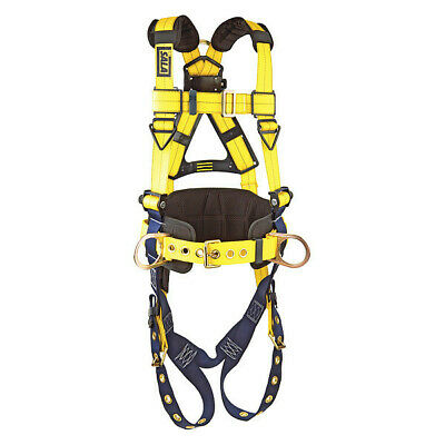 DBI-SALA 1101654 Full Body Harness, M, 420 lb., Blue/Yellow