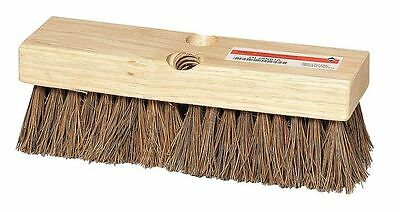 TOUGH GUY 4KNC1 Deck Scrub Brush, 10 x 3 In Blck, 2 In Trm