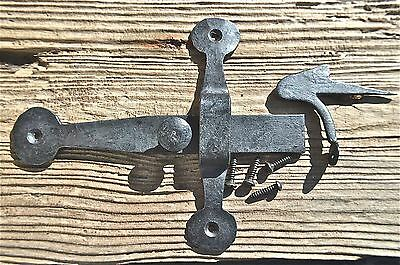 7 Inch Wrought Iron Cupboard Latch Lock Country Antique Rustic Door Wh20