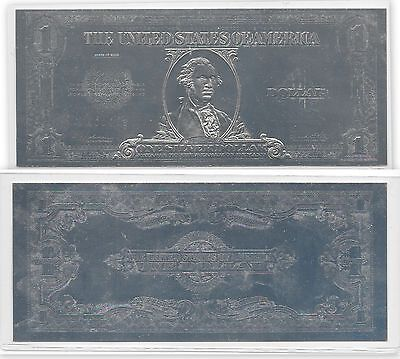 1923 One Dollar Silver Certificate-Silver coated copy with plastic cover