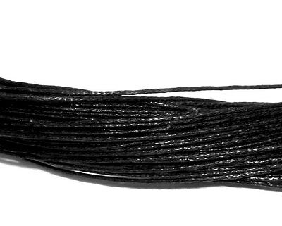 80 metres of waxed cotton 1mm necklace bracelet beading cord string black brown