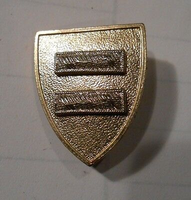rare vintage shield pin with two bars