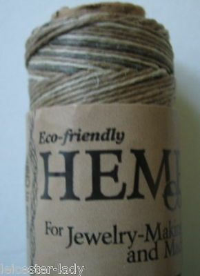 30 Metre Spool 0.5mm 3Ply Natural HEMP CORD Multicolour