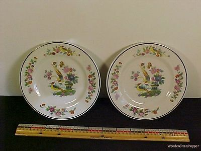 2 Birds of Paradise Sterling Lamberton Bread Butter Plates 5 7/8 inch Ivory