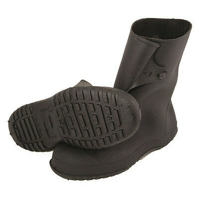 TINGLEY 35121 Overboots, Mens, L, Button Tab, Blk, PVC, 1PR