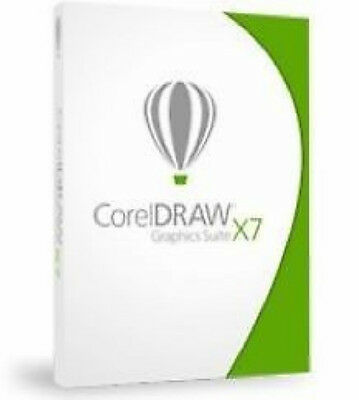 CorelDraw X7 Graphics Suite Commercial License 2 PC's Windows Sealed Retail Box