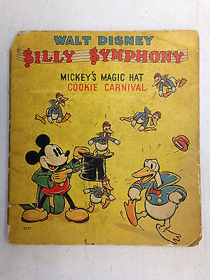 1937 Vintage Walt Disney Silly Symphony Mickey's Magic Hat Cookie Carnival 1077