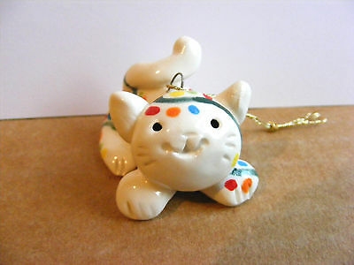 Little Guys Twinkle Cat Christmas Ornament Mini Animal Cindy Pacileo Pottery