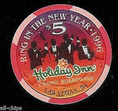 $5 Holiday Inn Casino New Year 1996 Las Vegas Casino Chip Old OBS Uncirculated