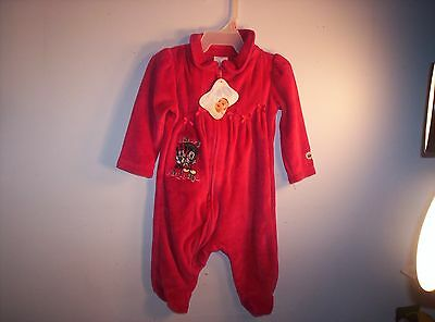 DISNEY BABY Mickey & Minnie HAPPY HOLIDAYS Girl Velour