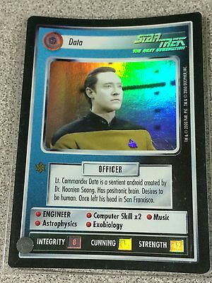 Star Trek CCG 1E Reflections Foil Data SRF Super Rare
