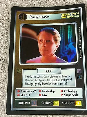 Star Trek CCG 1E Reflections Foil Founder Leader SRF Super Rare