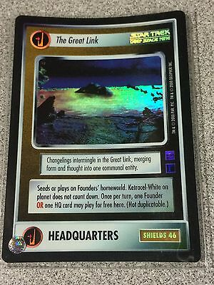 Star Trek CCG 1E Reflections Foil The Great Link SRF Super Rare