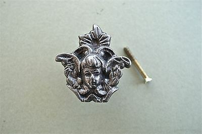 A Antique Style Angel Cast Iron Furniture Knob Drawer Door Handle Wh46