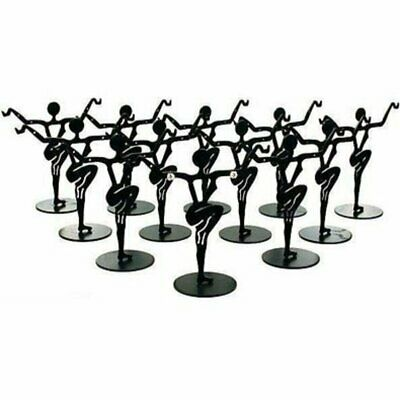 "12 Black Metal Earring Dancer Jewelry Showcase Display Stands 3.25"" New"