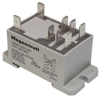 MAGNECRAFT 92S11D22D-12D Enclosed Power Relay, 30A, 12VDC, DPDT