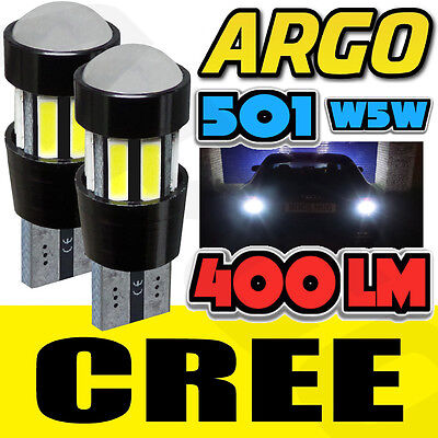 2x ERROR FREE CANBUS CREE 501 SMD LED NUMBER PLATE BULBS WHITE XENON T10 W5W 194