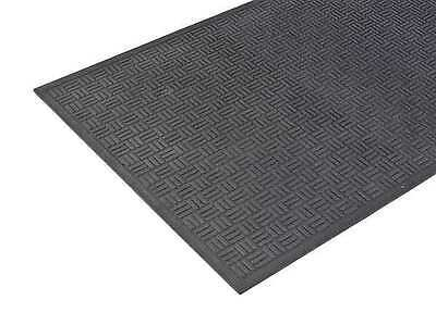 APACHE MILLS 78-060-9501-20000300 Rubber Entrance Mat,Black,2 x 3 ft.