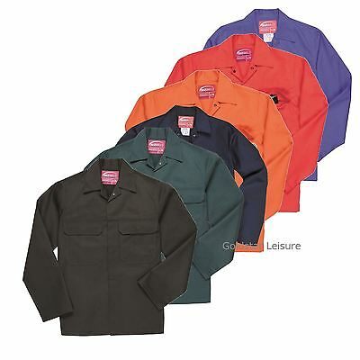 Portwest BizWeld Jacket Coat Flame Resist Stud Fastening Safety Workwear S-5XL