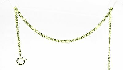 9 ct gold plain curb anklet / ankle chain - 12""