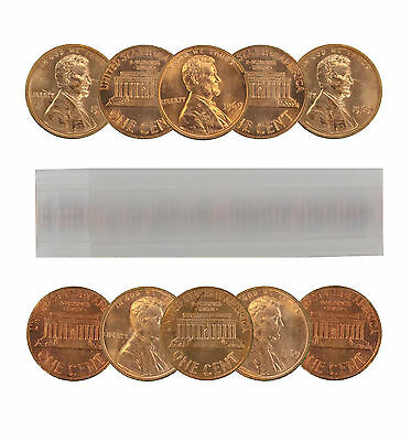1969-S Lincoln Cent Choice BU Roll Uncirculated 50 Coins