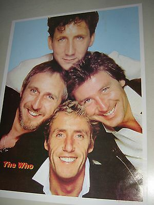 """the WHO - Orig. vintage """"carnival type"""" Poster / group / exc.+ New cond."""
