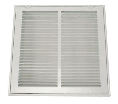 4MJT1 Return Air Filter Grille, 12x12 In, White