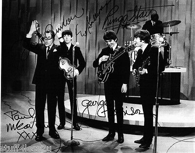 The Beatles 8x10 Signed RP Paul McCartney Ringo Starr George Harrison John Lenno