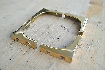 SET OF 4 BRASS ANTIQUE STYLE MILITARY BOX CHEST CORNER PLATE PROTECTOR WH57