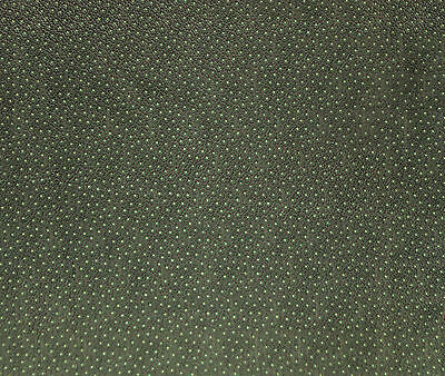 Antique 1880 Green Calico with White Dots Fabric