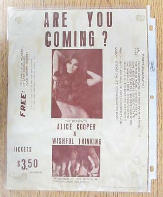 ALICE COOPER SALT LAKE CITY 1970 CONCERT FLYER POSTER ORIGINAL VINTAGE RARE